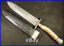 Civil War Era Side Bowie Knife Palmetto Armory South Carolina Confederate