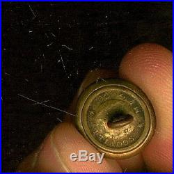 Civil War Hand Engraved Confederate Corps of Engineers Cuff Uniform Button