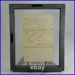Civil War Letter Fredericksburg Virginia Confederate Soldier James Sealy 1862