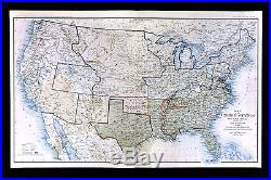 civil war map june 1861 united states confederate west territories pony express