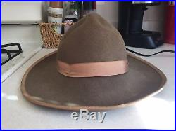 Civil War Reenacting Confederate Slouch Hat. Made by Dirty Billy. Size 7 5/8