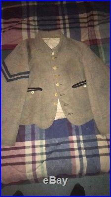 Civil War Reenacting- Hand Sewn Confederate Commutation Jacket. Size 48