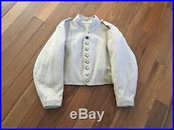 Civil War Reproduction Quality Hand Sewn Jacket Size 40 Confederate Campaigner