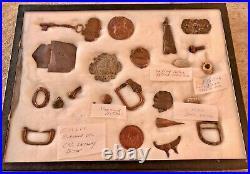 Civil War dug relics Wartrace, TN mini ball Confederate Infantry button Enfield
