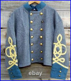 Civil war confederate infantry officers double breasted shell jacket 42