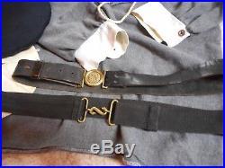 Civil war confederate naval uniform and extras