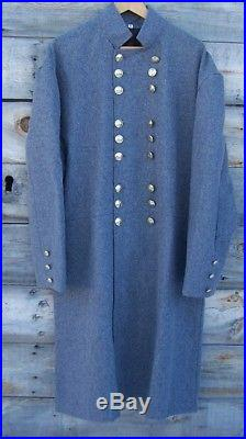 Civil war confederate officers double breasted wool frock coat 42
