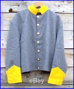 Civil war confederate reenactor cavalry shell jacket 52