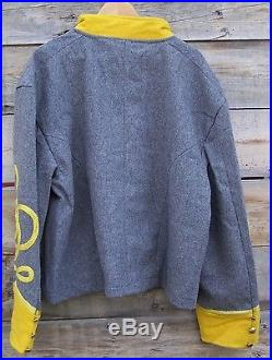 Civil war confederate reenactor cavalry shell jacket with 4 row braids 52