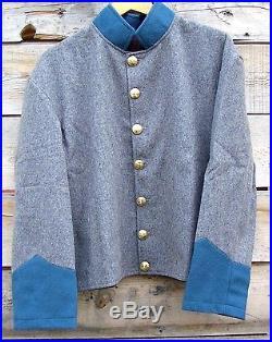 Civil war confederate reenactor infantry shell jacket 46