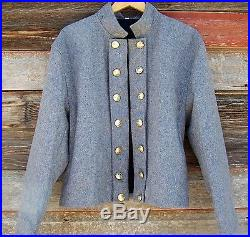 Civil war confederate reenactor officers double breasted shell jacket 48