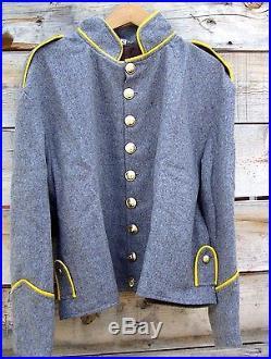 Civil war confederate richmond depot cavalry shell jacket shoulder straps 52