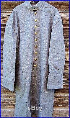 Civil war confederate wool frock coat 48