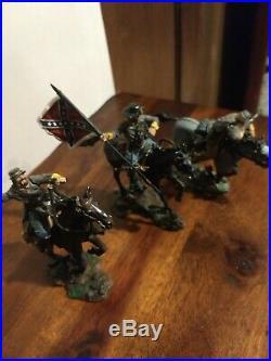 Collectors Showcase CIVIL War Confederate Calvary Soldiers Set Of 3