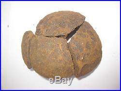 Confederate 12 pounder canon ball (4 pieces), Civil War (1861-1865)
