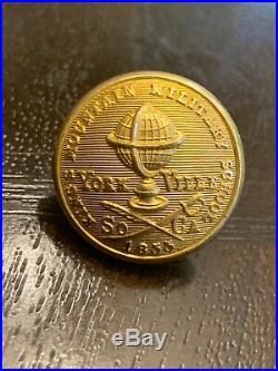 Confederate Button Kings Mountain Military School Civil War South Carolina