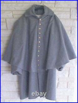Confederate Cavalry Great Coat, Gray, Civil War, New