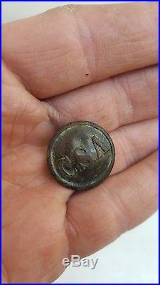 Confederate Civil War Button C. S. A