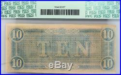 Confederate Civil War Currency 1864 $10 Dollar Bill PCGS Virginia T-68 55 Ten US