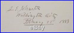 Confederate Civil War General Joseph E. Johnston Autograph Clipped Signature