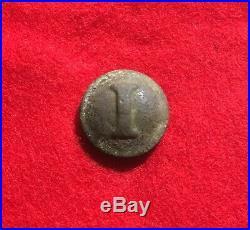 Confederate Civil War Infantry Tin Back Button Relic Dug CS Siege Lines Petersbu