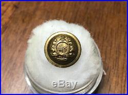 Confederate Civil War Missouri State Seal Staff Militia Cuff Button
