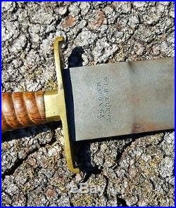 Confederate Civil War Short Artillery Sword marked W. J. McElroy MACON, GA