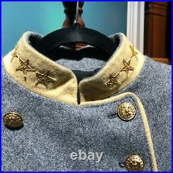 Confederate Colonel Shell Jacket, Custom-Made High Quality, Civil War, Size 38R
