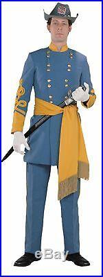 Confederate General Deluxe Adult Men's Costume Soldier Uniform Blue/Gray Jacket