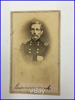 Confederate General PGT Beauregard CDV Civil War Fort Sumter Brady Backmark Nice