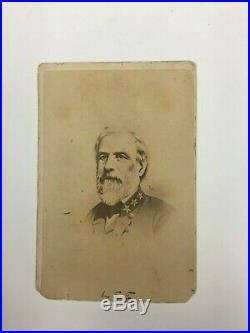 Confederate General Robert E. Lee CDV Antietam Gettysburg Appomattox Civil War