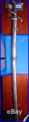 Confederate God And Our Rights Imported CIVIL War Saber Sword & Scabbard
