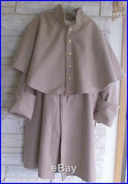 Confederate Infantry Great Coat, Butternut, Civil War, New