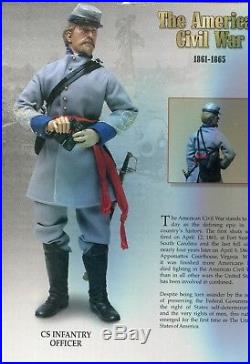 Confederate Infantry Lt Sideshow 1/6 Civil War