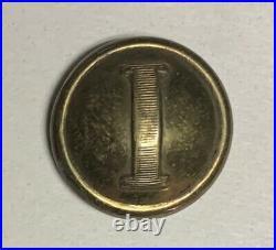 Confederate Infantry P Tait I Civil War Button