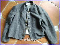 Confederate Jeancloth jacket handsewn buttonholes reenactment American civil war