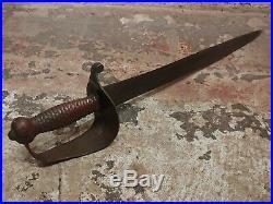 Confederate Naval Cutlass -Original 1861 US Civil War Short Sword-Rare