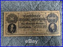 Confederate States $1000 BILL 1861 AWESOME CIVIL WAR MEMORABILIA REPRODUCTION