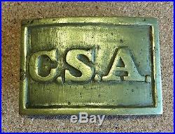 Confederate States Of America C. S. A. Civil War Belt Buckle