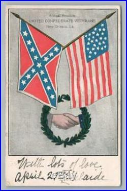 Confederate Veterans Reunion NEW ORLEANS Antique Louisiana Civil War UCV 1906