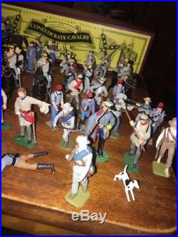 Confederate William Britains Lot Civil War 50 Pieces