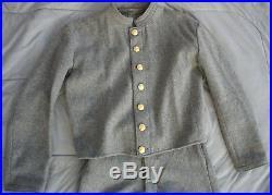 Coon River Mercantile Civil War Confederate Soldier Grey Uniform 32 waist Large