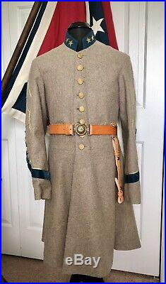 Custom Confederate Civil War Officers Frock Campaigner Quality