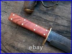 Custom Handmade Forged Bowie Confederate CIVIL War Gaucho Cowboy Sheffield Edc
