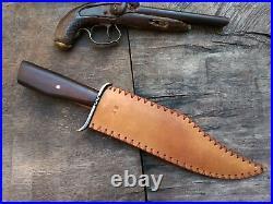 Custom Handmade Forged Bowie Confederate CIVIL War Gaucho Cowboy Texas