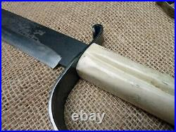 Custom Handmade Forged Confederate Soldier CIVIL War D Guard Frontier Sword Edc