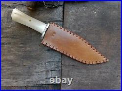 Custom Handmade Forged Long Bowie Confederate CIVIL War Gaucho Cowboy Sheffield