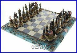 Dragon Crest Civil War Chess Set, Union vs Confederate Theme