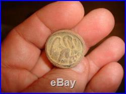 Dug CIVIL WAR LOUISIANA State Seal CSA Pelican button confederate LA7 Horstmann