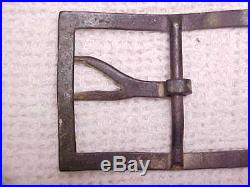 Dug Civil War CONFEDERATE Wishbone Frame Buckle Waist Belt Plate 100% ORIGINAL